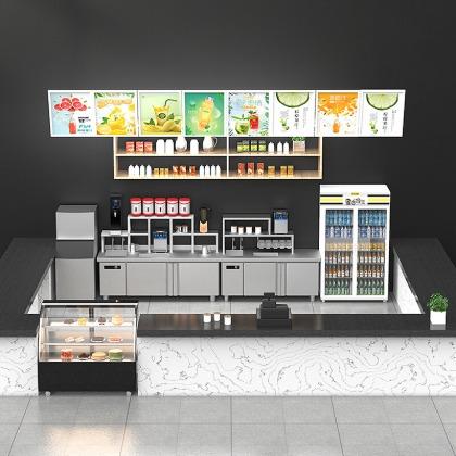 水吧台,奶茶店操作台,乐创电器