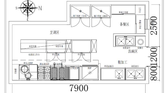 江门餐吧厨房工程案例