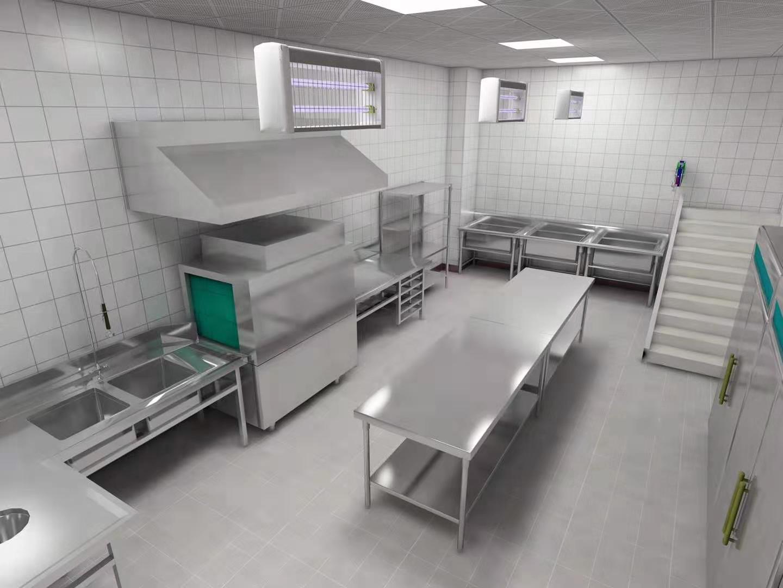 商用厨房工程效果图