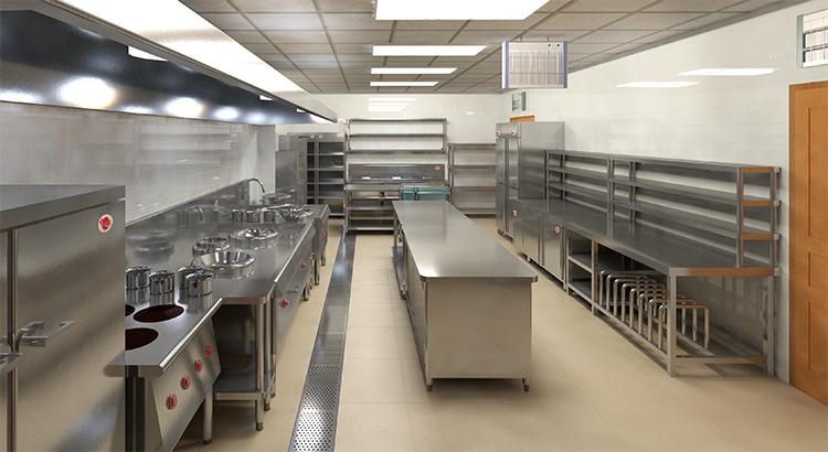 食堂厨房排水地沟方案