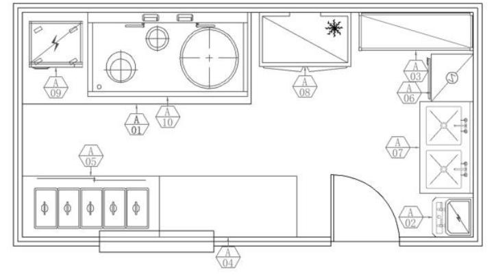政企食堂厨房布局图
