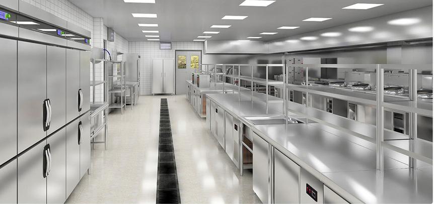 餐饮厨房工程效果图