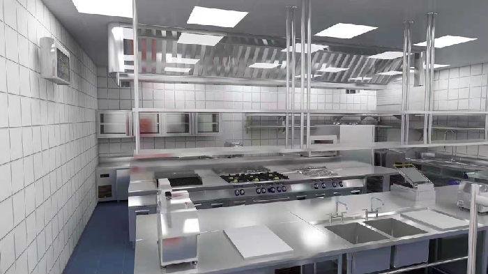 食堂厨房工程效果图